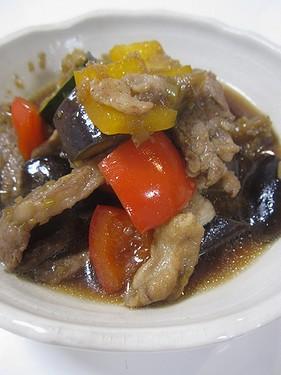 20150812 茄子と豚肉の甘辛炒め