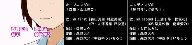 OVA『森田さんは無口』の音楽