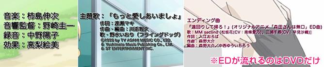 TVアニメ1期『森田さんは無口。』の音楽