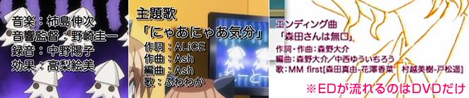 TVアニメ2期『森田さんは無口。2』の音