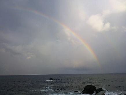 東伊豆の虹