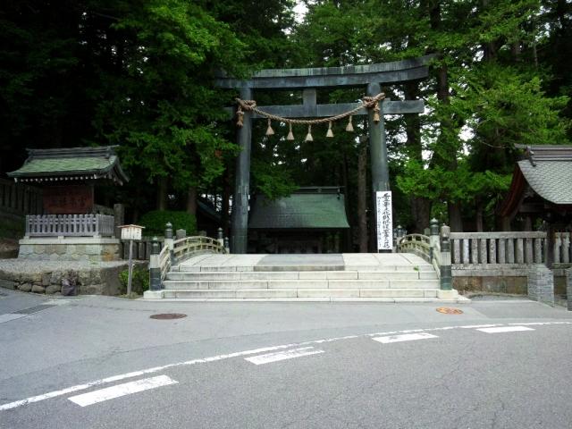 諏訪大社上社本宮の参道橋