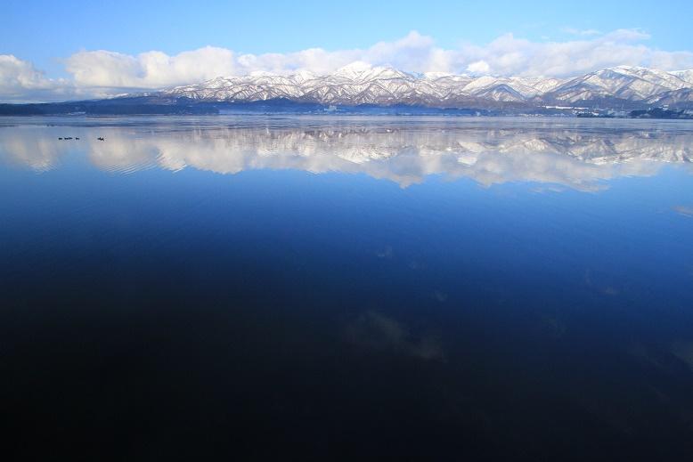 加茂湖冬晴れ