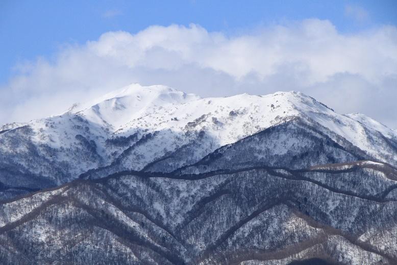 冬晴れの金北山