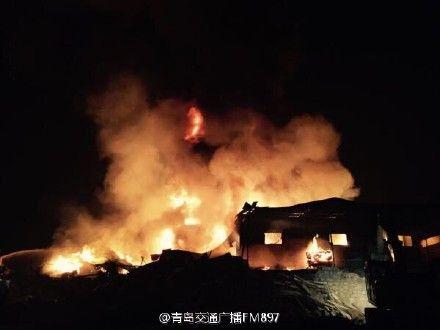 青島 天然ガス施設が爆発火災 03