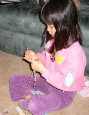 サリの編み物