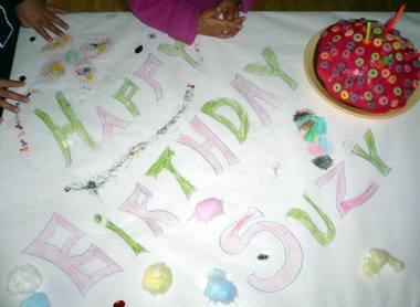 ケーキと飾り