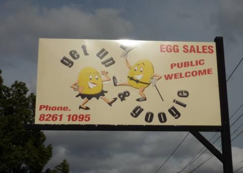 卵屋の看板
