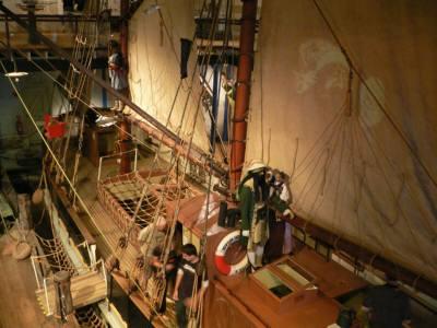 上から見た帆船