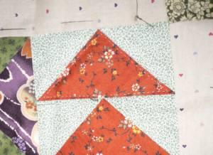 三角形にキルト