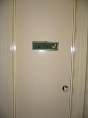 ドアのサイン
