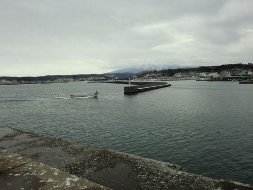 鰺ヶ沢町漁船風景