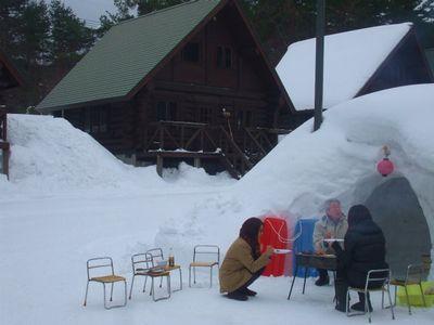 冬の焼肉風景