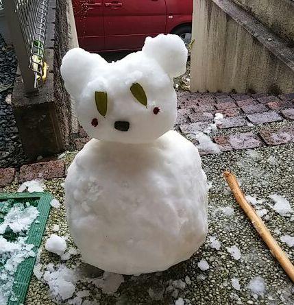 孫達が作った雪だるま 2015年1月2日1420195250499