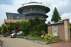 ガーデンミュージアム比叡にある比叡山頂遊園地時代の展望台