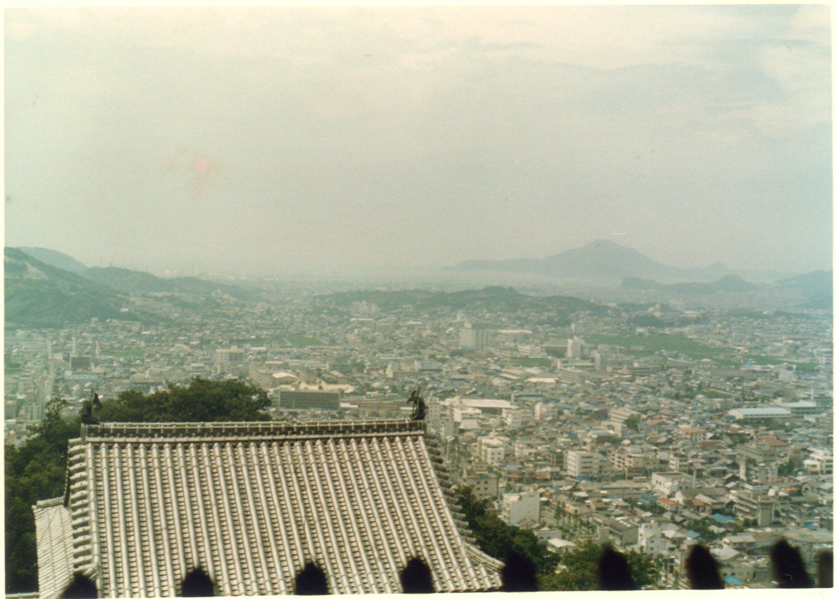 松山城天守閣より眺望1980年8月468