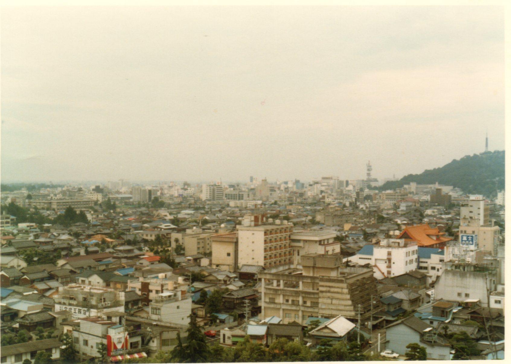 松山城天守閣より眺望1980年8月469