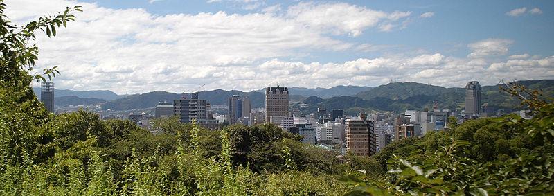 広島市比治山公園・比治山から広島市内を望む