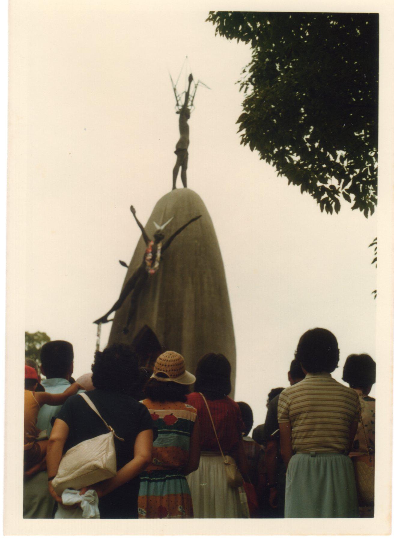 広島平和記念公園原爆の子の塔1980年8月477