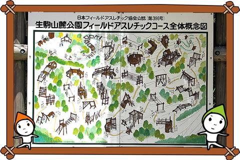 生駒山麓公園フィールドアスレティック全体概念図