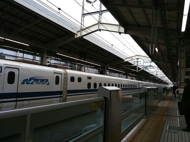 新幹線・京都駅・2015年3月3日