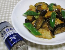 ナスと鶏むね肉の中華風カレー炒め 調理⑥