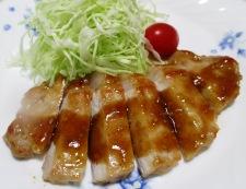 豚のしょうが焼き 焙煎ごま仕立て 調理④
