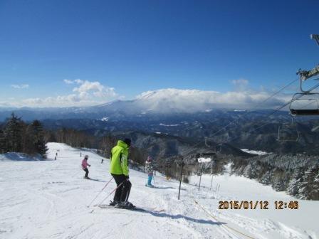 20150112 木曽福島スキー場から見た御嶽山