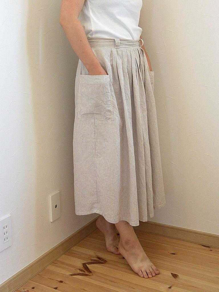 綿麻ロングスカート1