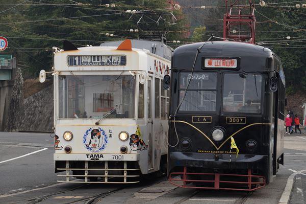 たま電車と並びます