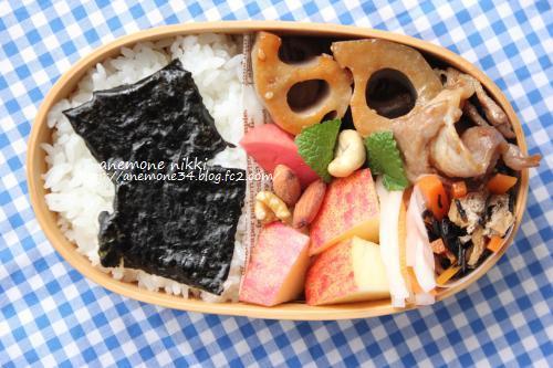 豚肉と蓮根炒め弁当1