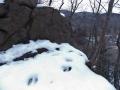カモシカ足跡(見晴岩)