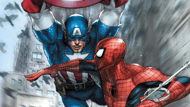 スパイダーマンとキャプテンアメリカ