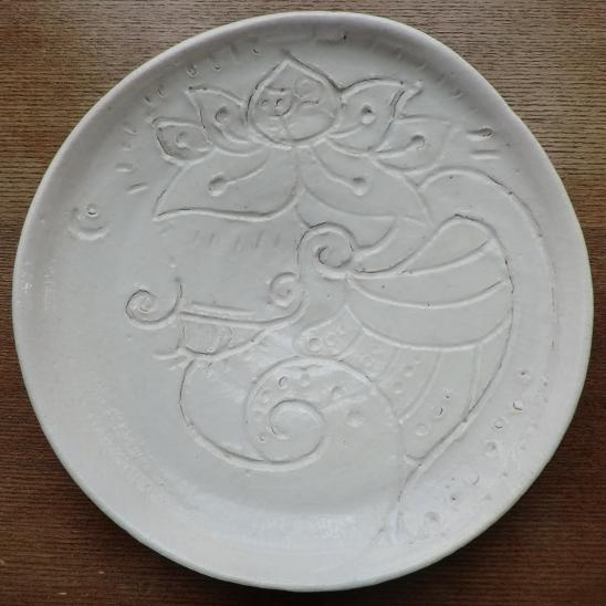 陶芸 ガネーシャさま ぞう 皿