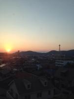 8山陽の夕日