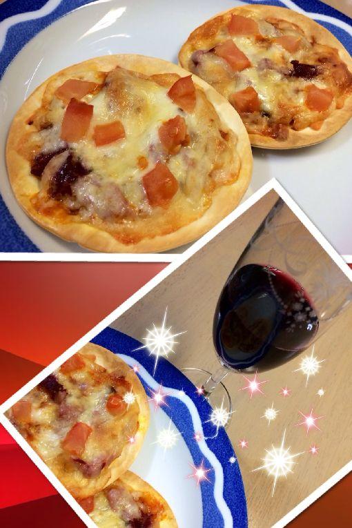 043-おうちピザ-ワイン