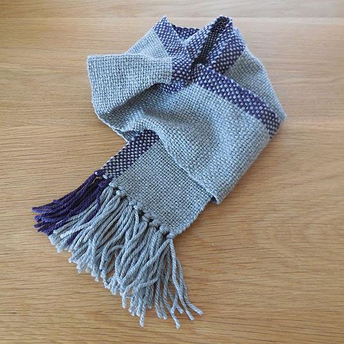 手織りマフラー ストライプ