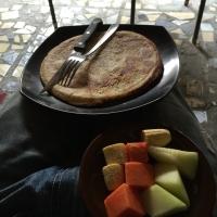 朝ごはんパンケーキ