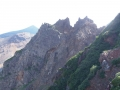 八手岩と十勝岳