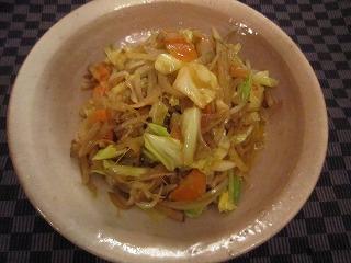 ヤーコンの野菜炒め