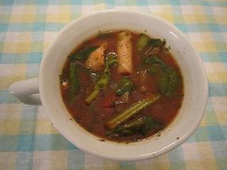 マダムカキフライのみそスープ