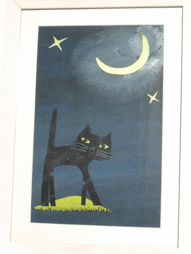 月光と黒猫