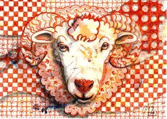 羊( 2L ペン画)