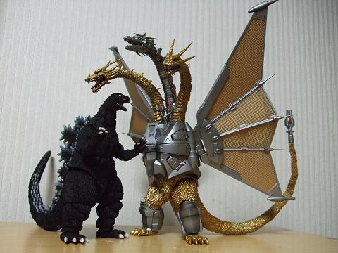 『ゴジラ』のフィギュア~S.H.MonsterArts 「メカキングギドラ」(4)