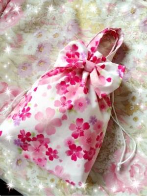 桜 美月プロデュースリボン巾着桜柄2