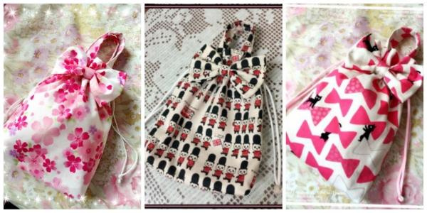 桜 美月プロデュースリボン巾着三種類