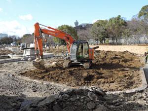 天王寺公園修復工事blog01