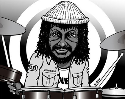 Sly Dunbar caricature likeness