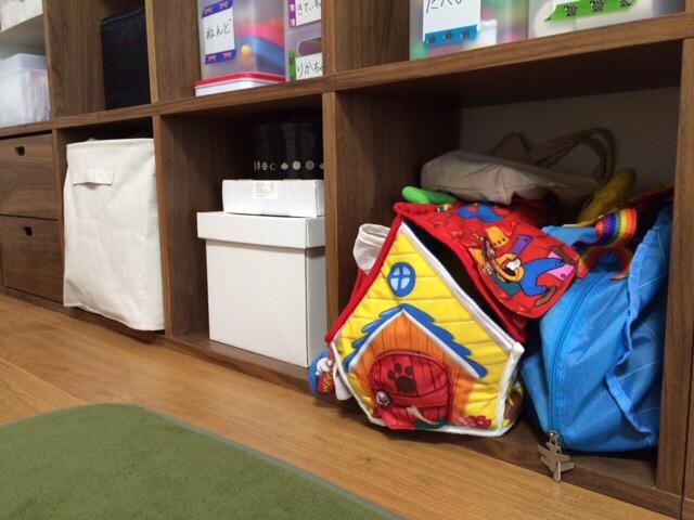 リビングダイニング 無印良品スタッキングシェルフ 子供 おもちゃ収納 PPメイクボックス ポリエステル綿麻混・ソフトボックス・長方形・大