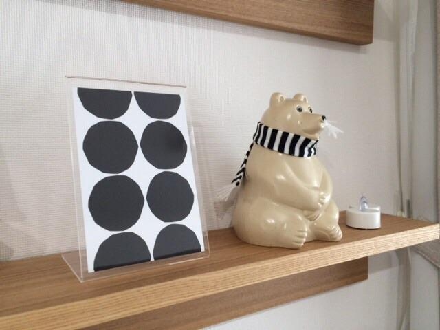リビング模様替え計画 無印良品 壁に付けられる家具・棚 マリメッコmarimekko ポストカード MK Tresmer エムケー トレスマー Polar Bear Money Box